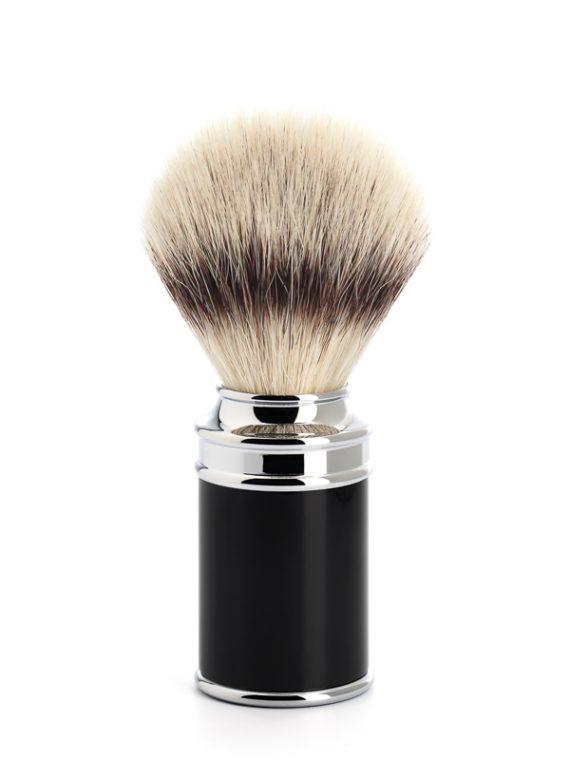 Scheerkwast Silvertip Fibre® - Maat M - Safety Razor in klassieke zwarte look verkrijgbaar via de scheerkist