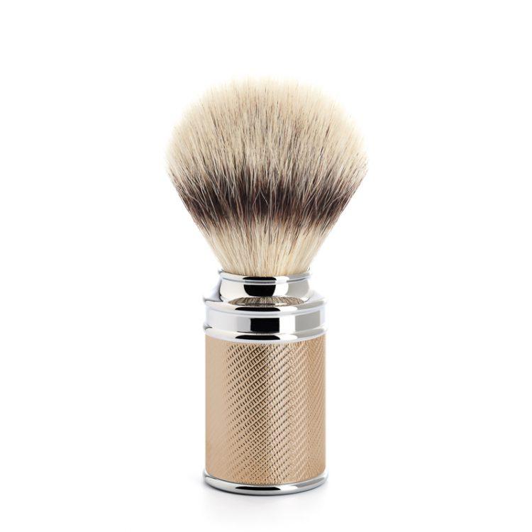 Scheerkwast Silvertip Fibre® - Maat M - Safety Razor - in rosegold look verkrijgbaar via de scheerkist