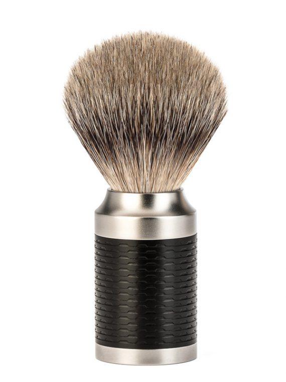 Scheerkwast Roestvrij staal (Silvertip) - Maat M